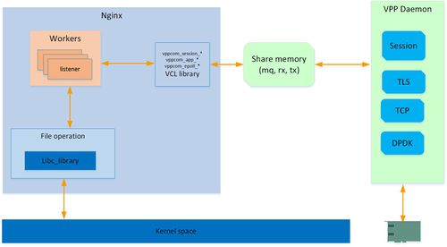 The architecture of VSAP taking Nginx as example